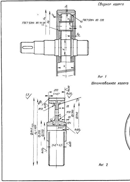 Конструкции цилиндрических сварных зубчатых колес