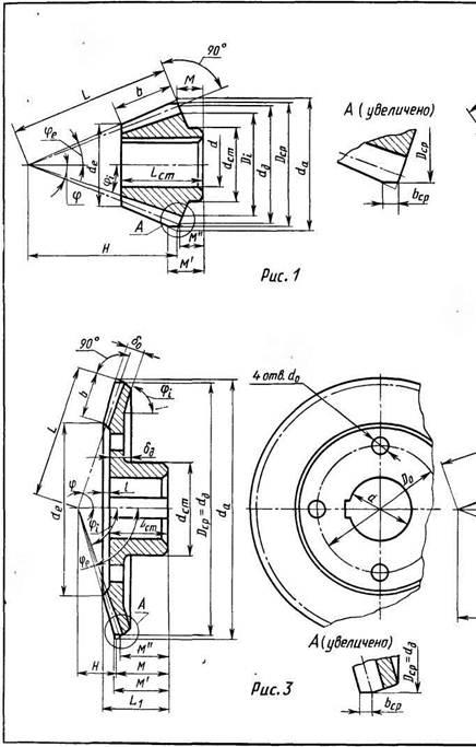 Конструкции конических кованых зубчатых колес