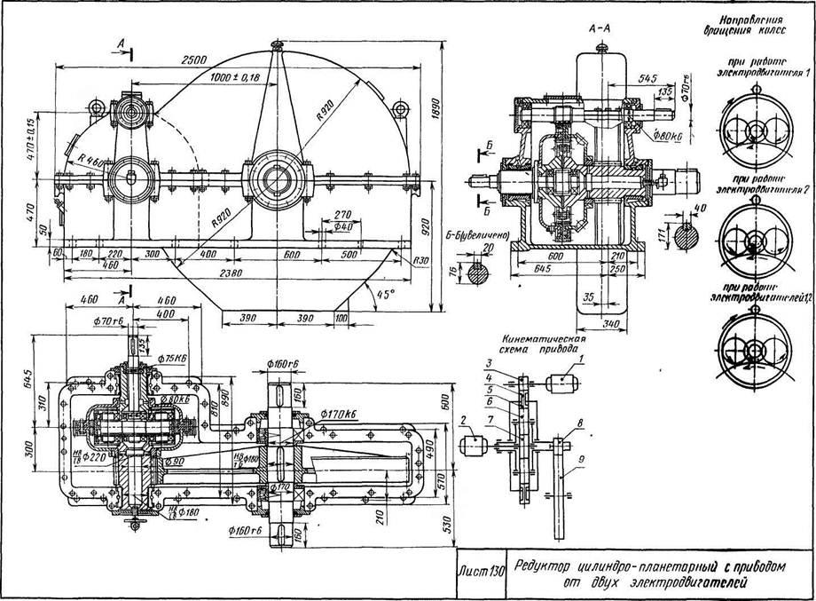 Редукторы цилиндро-планетарные с изменением скорости
